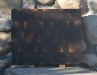 "Cutting Board # 15 - 064. Black Walnut. End Grain. 14-1/2"" x 18"" x 1-1/2""."