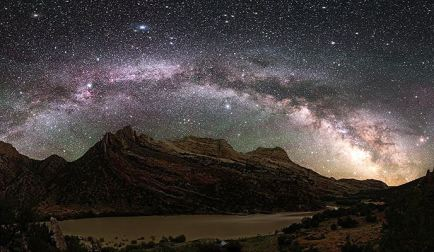 Located in the heart of Dinosaur National Monument canyon country, Echo Park provides many opportunities to enjoy remarkable surroundings and discover Fremont petroglyphs. At night the sky is filled with a spectacular display of stars thanks to the lack of light pollution – making stargazing a must. Pictured here, the Milky Way fills the night sky along the Green River. Photo by Dan Duriscoe, National Park Service. Tweeted by the US Department of the Interior, 7/26/15.