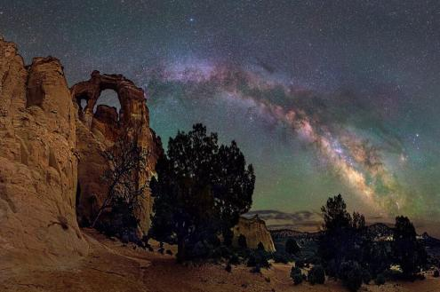 Here's a stunning night picture of Utah's Grand Staircase-Escalante National Monument's Grosvenors Arch and the Milky Way. Photo by David Lane. Tweeted by the US Department of the Interior, 7/28/15.