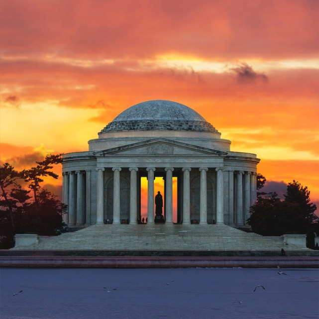 Photo of Jefferson Memorial courtesy of Drew Geraci. Posted on Tumblr by the US Department of the Interior, 7/16/15.