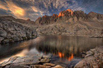 The last light of the day melts into the Sierra Nevada Mountains in California's Kings Canyon National Park. Photo by Cliff LaPlant. Posted on Tumblr by the US Department of the Interior, 7/19/15.