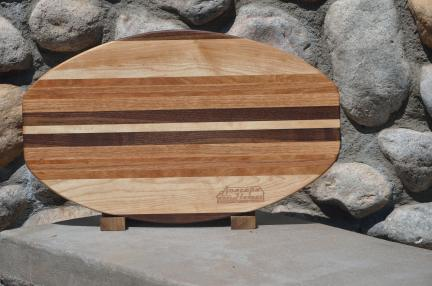 Large Surfboard for Anacapa Homes. Black Walnut, Hard Maple, Cherry & Red Oak.
