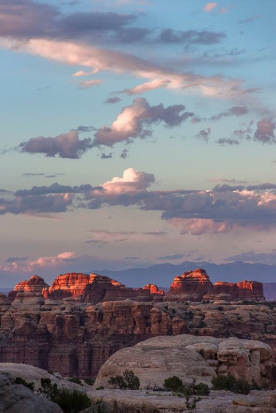 Sunset over the Doll House at Utah's Canyonlands National Park. Tweeted by the US Department of the Interior, 10/26/15.