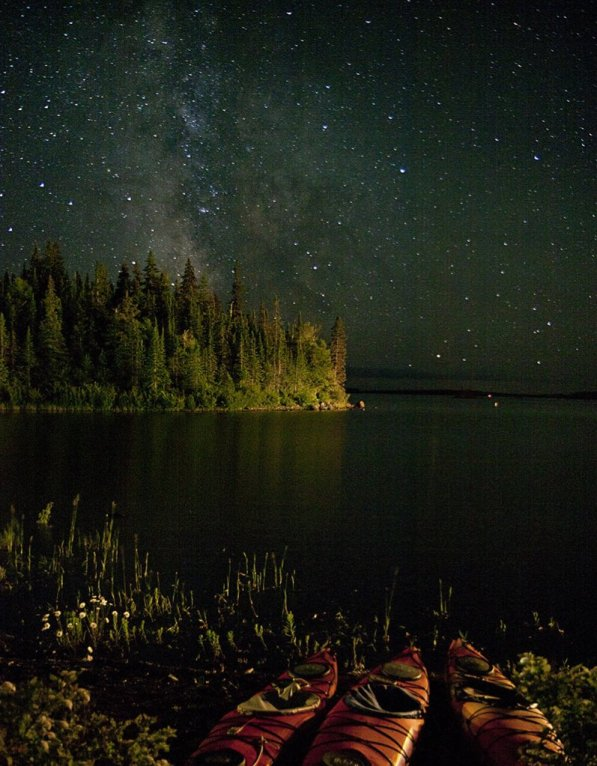 A gorgeous night scene at Michigan's Isle Royale National Park. Photo by Carl TerHaar. Tweeted by the US Department of the Interior, 10/27/15.