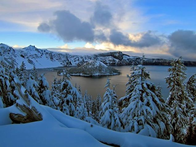 Crater Lake National Park in winter. Tweeted by the US Department of the Interior, 11/16/15.