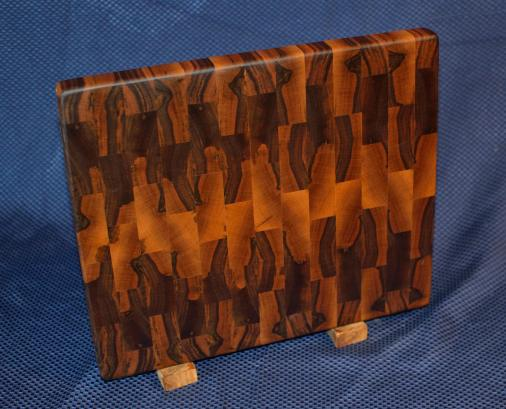 "Cutting Board # 15 - 082. Black Walnut. End Grain. 12"" x 15"" x 1-1/8""."
