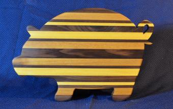 "Pig # 15 - 11. Yellowheart, Hard Maple and Black Walnut. 19"" x 12"" x 1-1/8""."