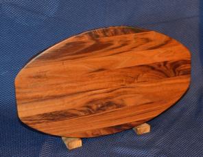 """Surfboard # 15 -28. Black Walnut. 12"""" x 19"""" x 1-1/4""""."""