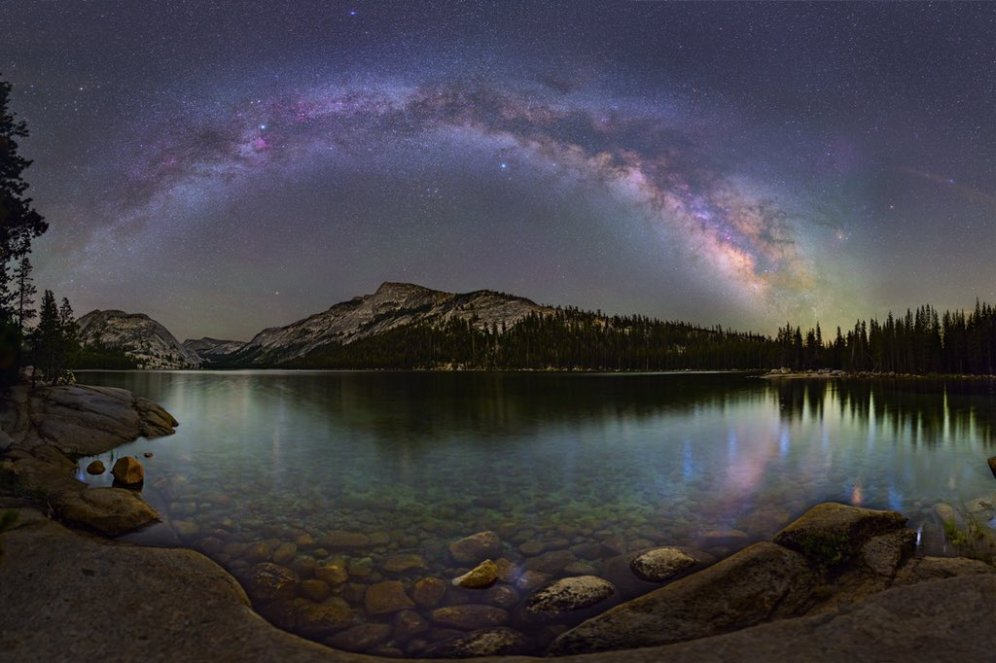 The Milky Way over Tenaya Lake in Yosemite National Park. Photo by David Lane. Tweeted by the US Department of the Interior, 11/30/15.