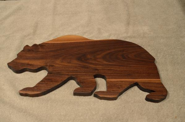 "Bear # 15 - 03. Black Walnut. Edge Grain. 10"" x 20"" x 3/4""."