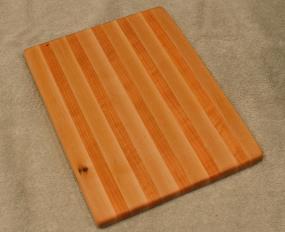 "Cheese Board # 15 - 062. Hard Maple & Cherry. 8"" x 11"" x 3/4""."