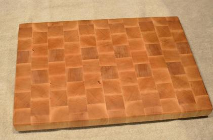 "Cutting Board # 15 - 091. Hard Maple. End Grain. 13"" x 17"" x 1-1/4""."