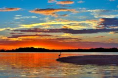 "A spectacular Florida sunset over the J.N. ""Ding"" Darling National Wildlife Refuge. Photo by Al Hoffacker. Posted on Tumblr by the US Department of the Interior, 12/18/15."