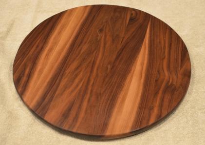"Lazy Susan # 15 - 046. Black Walnut. 17"" diameter x 3/4""."