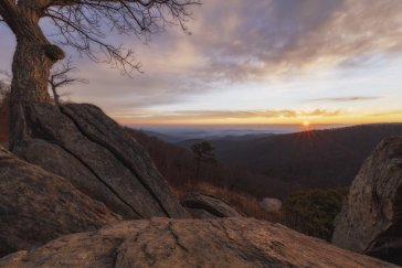 Virginia's Shenandoah National Park at sunrise. Tweeted by the US Department of the Interior, 1/6/16.