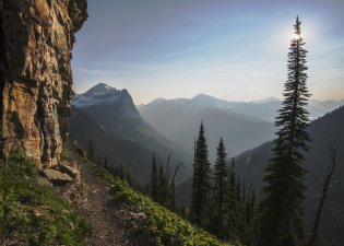 View from the Highline Trail in Montana's Glacier National Park. Tweeted by the US Department of the Interior, 3/21/16.