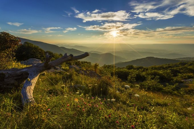 Spring is arriving with warmer days & stunning sunsets like this one at Virginia's Shenandoah National Park. Tweeted by the US Department of the Interior, 3/12/16.