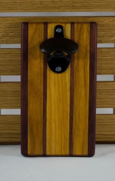 Magic Bottle Opener 16 - 063. Double Magic. Purpleheart & Canarywood.