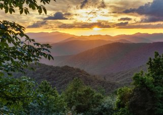 A golden sunset, cool mountain air ... what else do you need in Tennessee's Great Smoky National Park. Photo by Chris Mobley. Tweeted by the US Department of the Interior, 5/9/16.
