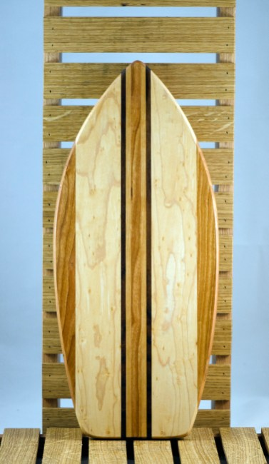 Medium Surfboard 16 - 03. Cherry, Hard Maple & Black Walnut.