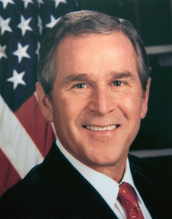 Washington, DC -- The official portrait of President G.W. Bush - the 43rd president of the United States. White House Photo, digital copy of printed photograph