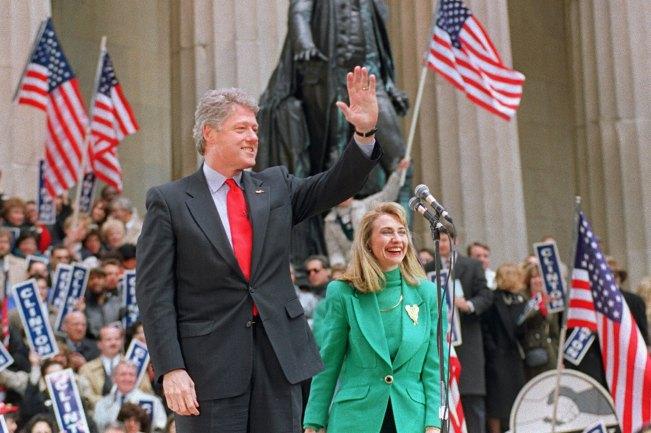 President Clinton - Flag