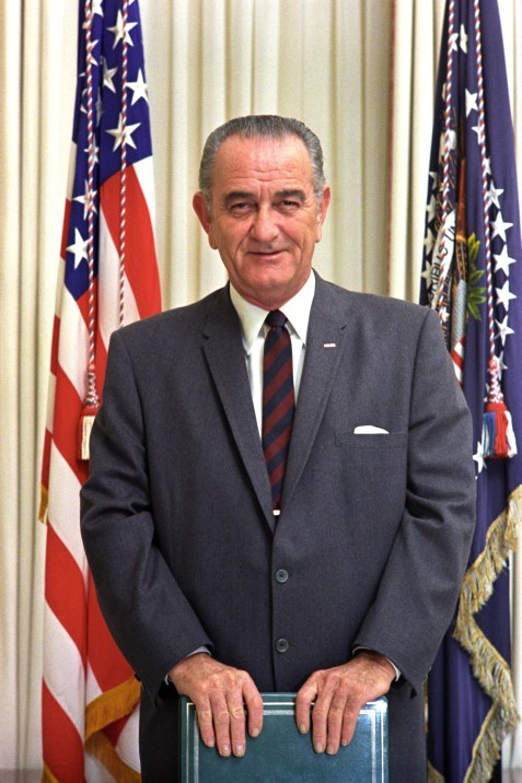 President Johnson - Flag