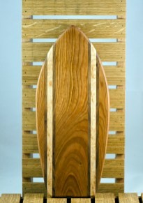 Small Surfboard 16 - 03. Cherry, Black Walnut & Birds Eye Maple.