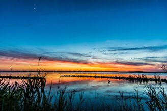 Sunset over Virginia's Back Bay National Wildlife Refuge. Photo by Robert Merrill. Tweeted by the US Department of the Interior, 7/29/16.
