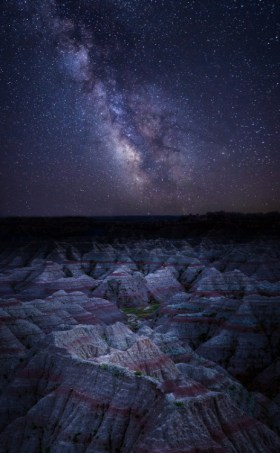 Photographer Jose Torres took advantage of a cross country move to take pictures in national parks along the way. One of his favorite stops was Badlands National Park in South Dakota where he captured this amazing scene of the unique rock formations glowing in the light of the moon and the Milky Way. What a shot! Photo courtesy of Jose Torres.