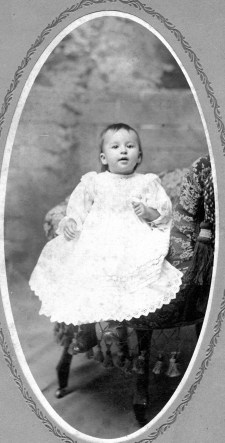 Juanita Elizabeth Boring, my grandmother, would have been the third Boring grandchild to have used the rocking chair. And, no, this is not the chair. 1901.