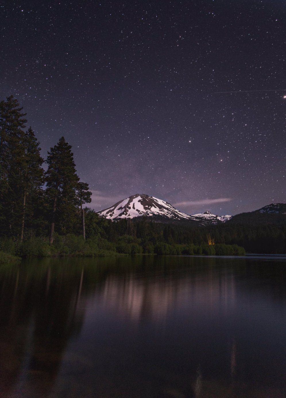 Dark night skies make for a stargazer's paradise at California's Lassen National Park. Photo by Sam Lee. Tweeted by the US Department of the Interior, 7/6/16.