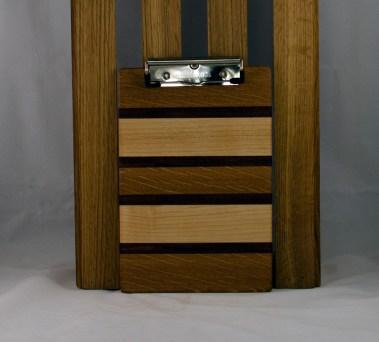 """Clipboard 16 - 019. White Oak, Purpleheart & Hard Maple. Note Pad size, 1/2"""" clip."""