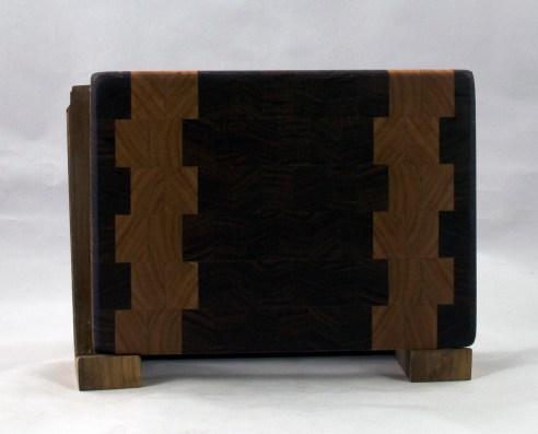 """Small Board 16 - 021. Black Walnut & Cherry. 6"""" x 9"""" x 1""""."""