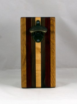 Magic Bottle Opener 16 - 127. Cherry, Padauk, Black Walnut & Hard Maple. Single Magic.
