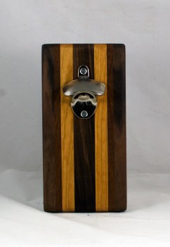 Magic Bottle Opener 16 - 136. Black Walnut, Jatoba & Cherry. Double Magic.