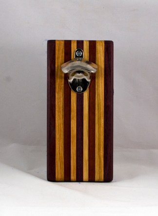 Magic Bottle Opener 16 - 138. Bloodwood, Cherry & Purpleheart. Double Magic.