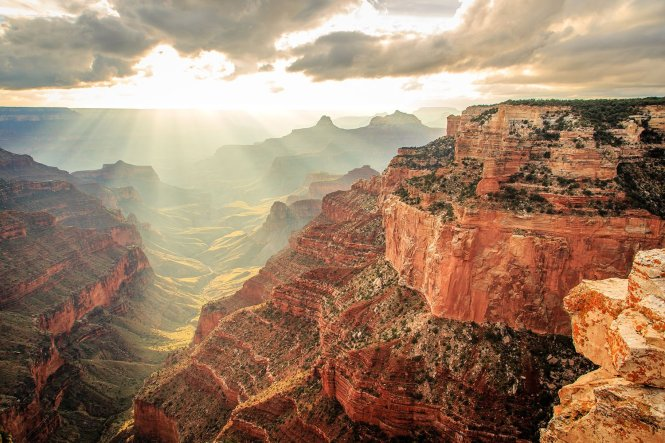 For serenity & spectacular views, you can't beat the North Rim. Arizona's Grand Canyon National Park. Photo by Yan Li. Tweeted by the US Department of the Interior, 10/17/16.