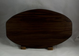 "Cheese & Cracker Server 16 - 03. Black Walnut. 12"" x 19"" x 1-1/4""."