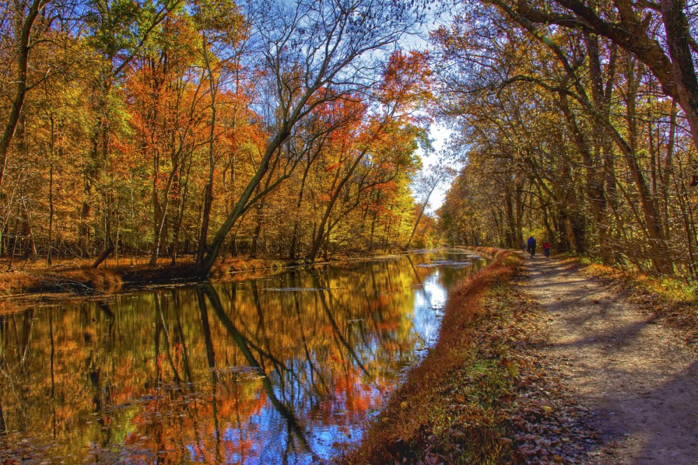Running 184 miles from Washington, D.C., to Cumberland, Maryland, the Chesapeake & Ohio Canal National Historical Park offers as much adventure as you can handle. Hiking and biking on the towpath is a favorite activity for locals and visitors alike. With so much history and nature to experience, you should #OptOutside this week to enjoy the fall colors. Photo by Kathi Isserman. Posted on Tumblr by the US Department of the Interior, 11/21/16.