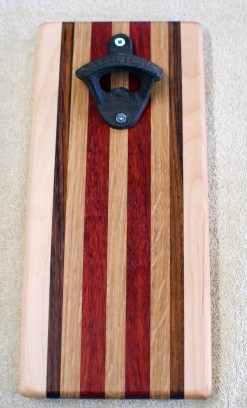 Magic Bottle Opener 16 - 197. Hard Maple, Jatoba, White Oak & Padauk. Double Magic.
