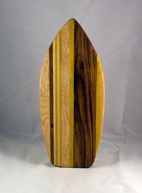 Medium Surfboard 16 - 10. Birdseye Maple, Black Walnut & Yellowheart.