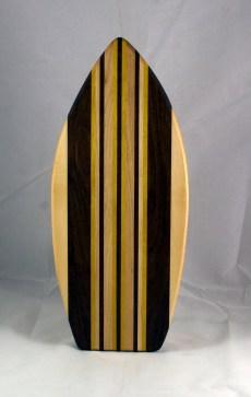 Medium Surfboard 16 - 12. Hard Maple, Black Walnut & Yellowheart.