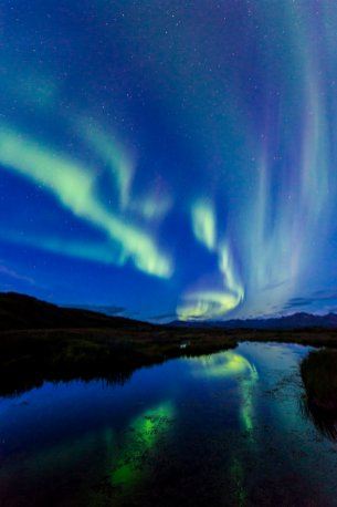 The Northern Lights create mesmerizing swirls over Denali National Park. Photo by Carl Johnson. Tweeted by the US Department of the Interior, 1/5/17.