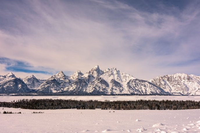 A gorgeous frosty morning at Wyoming's Grand Teton National Park. Photo by Michelle Olmstead. Tweeted by the US Department of the Interior, 1/24/17.