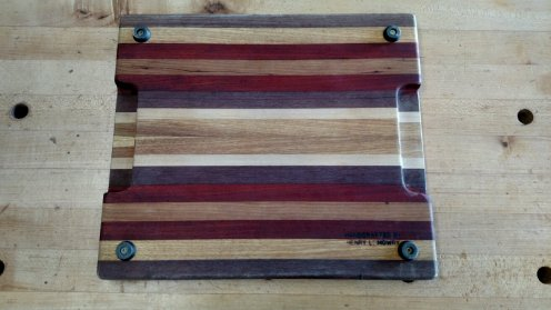 The back shows the exotic wood colors with less UV exposure.