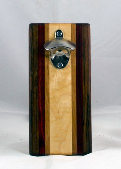 Magic Bottle Opener 17 - 601. Jatoba, Padauk, Cherry & Hard Maple. Double Magic.