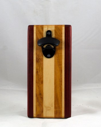 Magic Bottle Opener 17 - 608. Padauk, Hard Maple & Honey Locust. Single Magic.