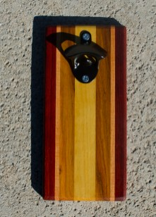 Magic Bottle Opener 17 - 610. Padauk, Cherry, Canarywood & Yellowheart. Double Magic.