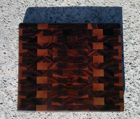 """Small Board 17 - 218. Black Walnut. End Grain. 11-1/4"""" x 9-5/8"""" x 1""""."""